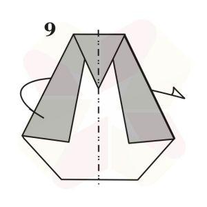 Pinguino de Origami - Paso 9