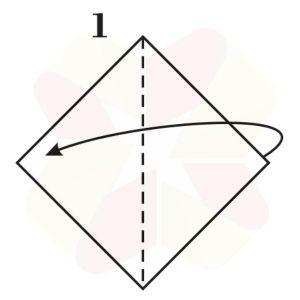 Sapito de Origami - Paso 1