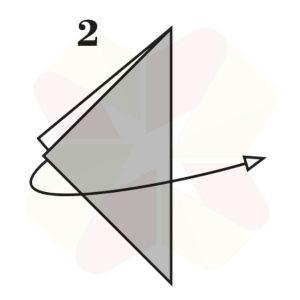 Sapito de Origami - Paso 2