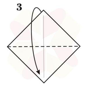 Sapito de Origami - Paso 3