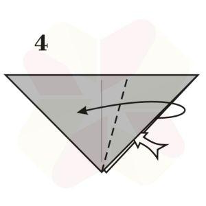 Sapito de Origami - Paso 4