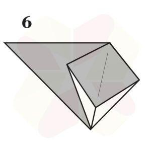 Sapito de Origami - Paso 6