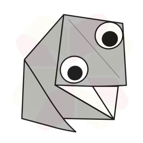 Sapito de Origami - Terminado