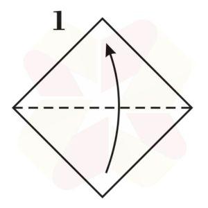 Sombrerito Samurai de Origami - Paso 1