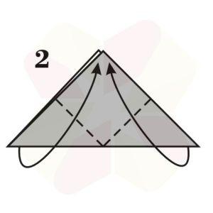 Sombrerito Samurai de Origami - Paso 2