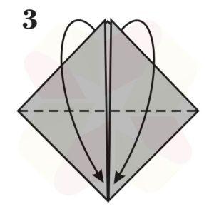 Sombrerito Samurai de Origami - Paso 3