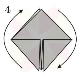 Sombrerito Samurai de Origami - Paso 4