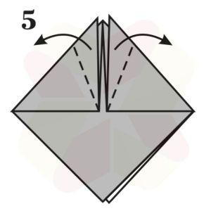 Sombrerito Samurai de Origami - Paso 5