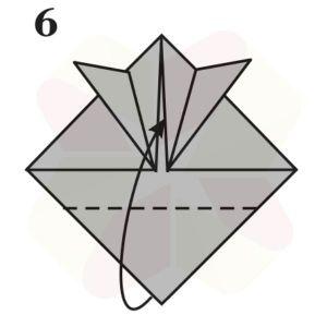 Sombrerito Samurai de Origami - Paso 6