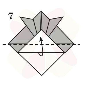 Sombrerito Samurai de Origami - Paso 7