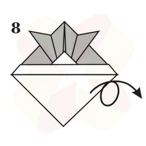 Sombrerito Samurai de Origami - Paso 8