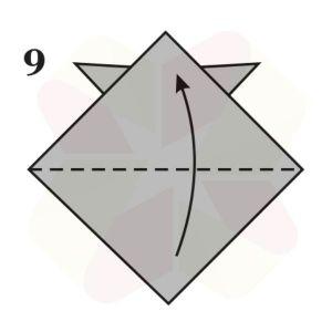 Sombrerito Samurai de Origami - Paso 9