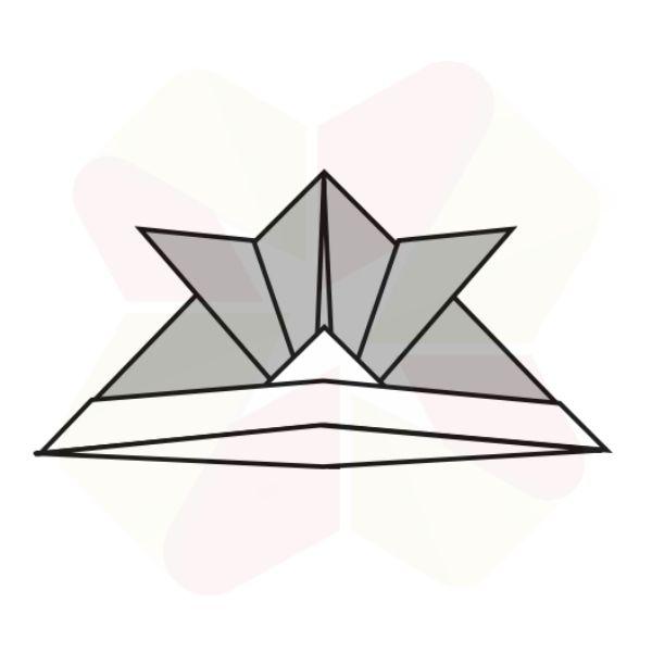 Sombrerito Samurai de Origami - Terminado