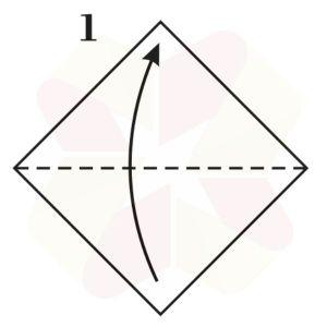 Vasito de Origami - Paso 1