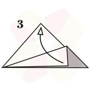 Vasito de Origami - Paso 3