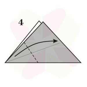 Vasito de Origami - Paso 4