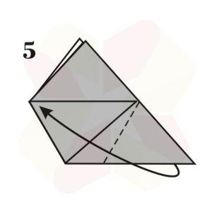 Vasito de Origami - Paso 5
