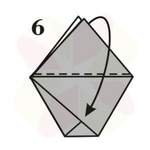 Vasito de Origami - Paso 6