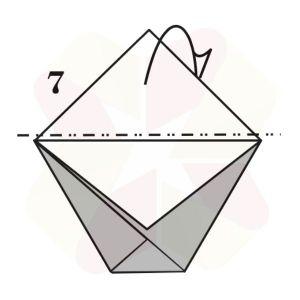 Vasito de Origami - Paso 7