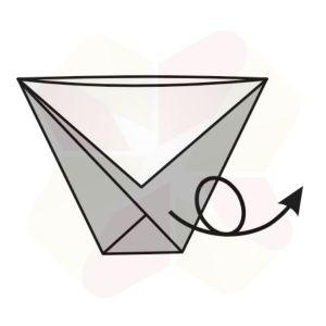 Vasito de Origami - Terminado