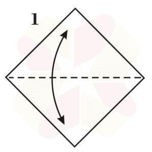 Zorrito de Origami - Paso 1