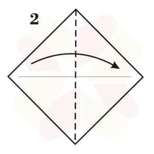 Zorrito de Origami - Paso 2