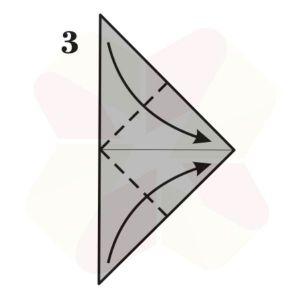Zorrito de Origami - Paso 3