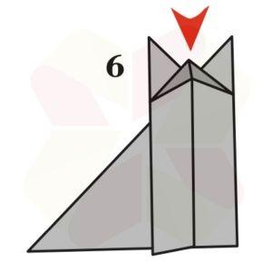 Zorrito de Origami - Paso 6