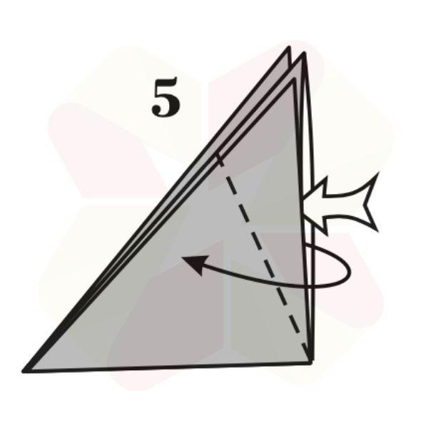 Zorrito de Origami v2 - Paso 5