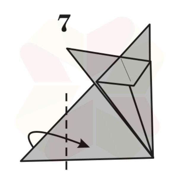 Zorrito de Origami v2 - Paso 7